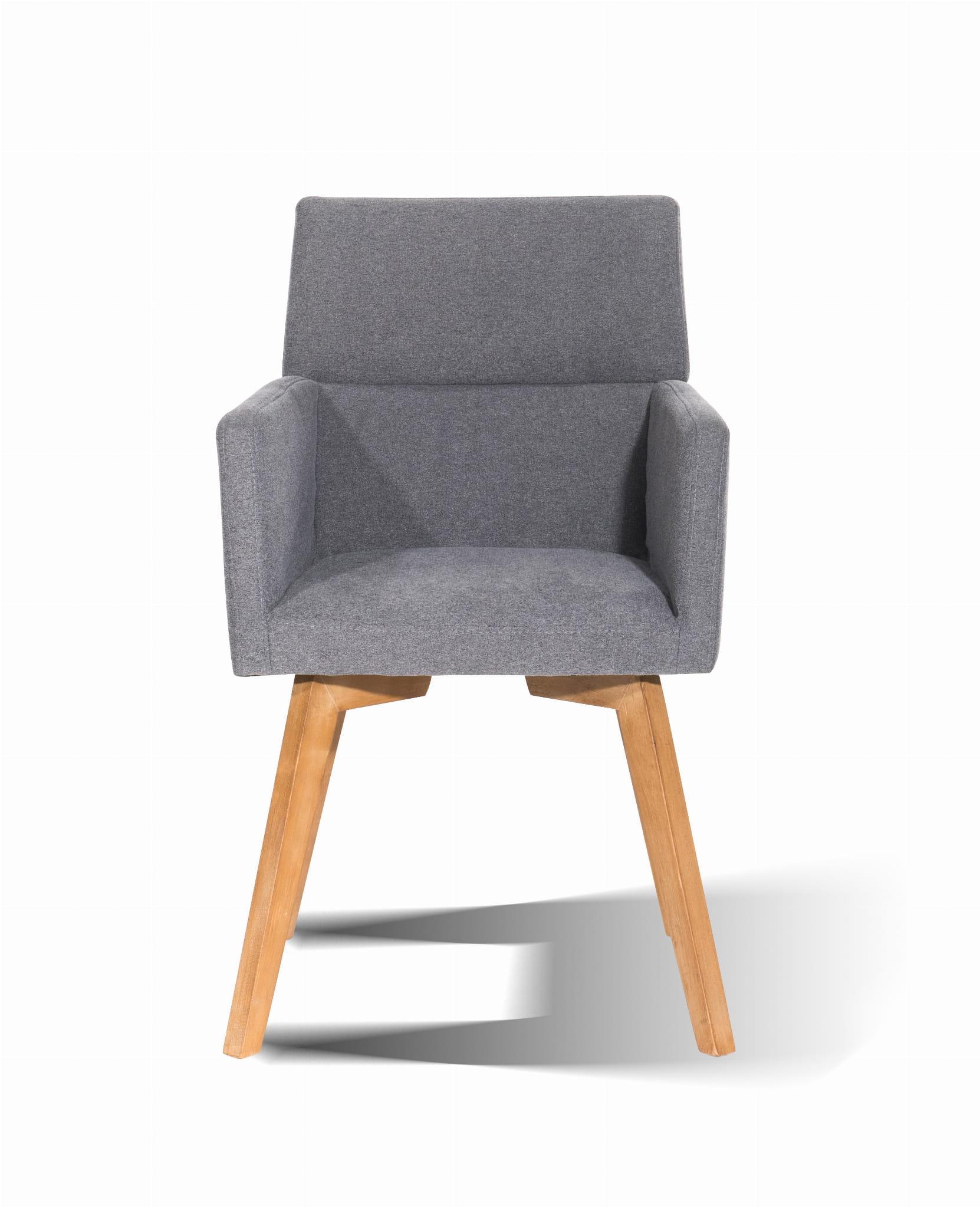 Fotel Adi Krzesło Z Podłokietnikiemszare Wawadizajn